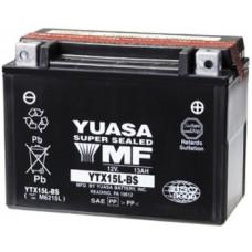 Аккумулятор GS YUASA  12В 12 Ач, 230 А (YTX15L-BS), обратная полярность ⁶