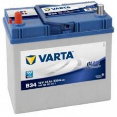Аккумулятор VARTA Asia Blue Dynamic 45 Ач, 330 А (B34), прямая полярность, толстые клеммы ²
