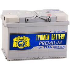 Аккумулятор TYUMEN BATTERY (ТЮМЕНЬ) PREMIUM  77 Ач, 640 А Ca/Ca, обратная полярность ¹