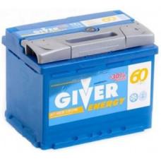 Аккумулятор GIVER ENERGY 60 Ач, 570 А, прямая полярность ²