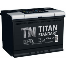Аккумулятор TITAN Standart 75 Ач, 700 А, прямая полярность ¹