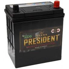 Аккумулятор ECO PRESIDENT Asia  42 Ач, 350 А (44B19R), прямая полярность ¹