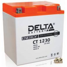 Аккумулятор DELTA CT 12В 30 Ач, 300 А (CT 1230), обратная полярность ⁶