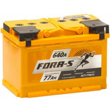Аккумулятор FORA-S  77 Ач, 640 А, прямая полярность ²