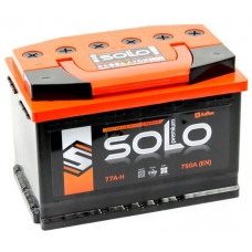 Аккумулятор SOLO PREMIUM 77 Ач, 750 А, прямая полярность ²