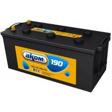 Аккумулятор АКОМ  190 Ач, 1000 А, европейская полярность, конусные клеммы ⁵