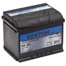 Аккумулятор VEKTOR  60 Ач, 480 А, обратная полярность ²