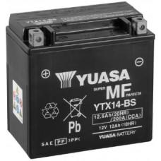 Аккумулятор GS YUASA  12В 12 Ач, 200 А (YTX14-BS), прямая полярность ⁶