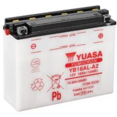 Аккумулятор GS YUASA  12В 16 Ач (YB16AL-A2), обратная полярность, с электролитом ⁶