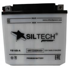 Аккумулятор SILTECH DC 12В 16 Ач, 210 А (YB16B-A), прямая полярность, сухо-заряженный, с электролитом ¹
