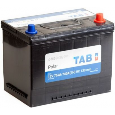 Аккумулятор TAB Asia Polar 75 Ач, 740 А (57529), обратная полярность, нижний борт ²