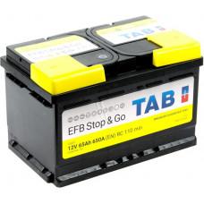 Аккумулятор TAB Stop & Go 65 Ач, 650 А (212065) EFB, Start-Stop, низкий, обратная полярность ²