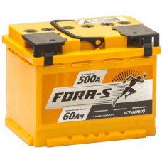 Аккумулятор FORA-S  60 Ач, 500 А, прямая полярность ²