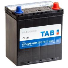 Аккумулятор TAB Asia Polar 45 Ач, 400 А (54524/51), прямая полярность, тонкие клеммы c переходниками ²