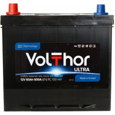Аккумулятор VOLTHOR Asia Ultra 60 Ач, 600 А, обратная полярность, нижний борт ¹