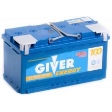 Аккумулятор GIVER ENERGY 100 Ач, 900 А, обратная полярность ²