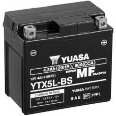 Аккумулятор GS YUASA  12В 4 Ач, 80 А (YTX5L-BS), обратная полярность ⁶