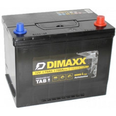 Аккумулятор DIMAXX Asia  75 Ач, 700 А, прямая полярность, нижний борт ¹
