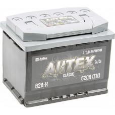 Аккумулятор АКТЕХ CLASSIC 62 Ач, 620 А, низкий, прямая полярность ²