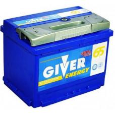 Аккумулятор GIVER ENERGY 65 Ач, 620 А, прямая полярность ²
