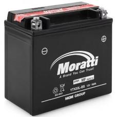 Аккумулятор MORATTI  12В 18 Ач, 250 А (YTX20L-BS, MEP12X20), обратная полярность, сухо-заряженный, с электролитом ¹
