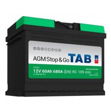 Аккумулятор TAB Stop&Go 60 Ач, 680 А AGM, Start-Stop, обратная полярность ²
