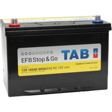 Аккумулятор TAB Asia Stop&Go 105 Ач, 900 А (60518) EFB, Start-Stop, обратная полярность, нижний борт ²