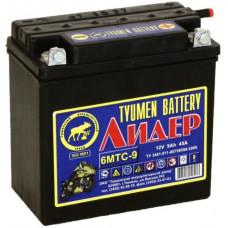 Аккумулятор TYUMEN BATTERY (ТЮМЕНЬ) ЛИДЕР 12В 9 Ач, 45 А (6МТС-9), прямая полярность, сухо-заряженный, болтовые клеммы ¹