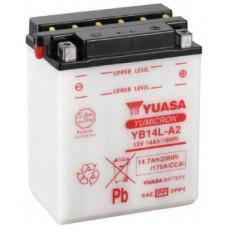Аккумулятор GS YUASA  12В 14 Ач (YB14L-A2), обратная полярность, с электролитом ⁶