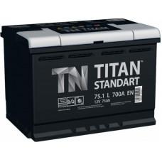 Аккумулятор TITAN Standart 75 Ач, 700 А, обратная полярность ¹