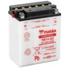 Аккумулятор GS YUASA  12В 14 Ач (YB14-A2), прямая полярность, с электролитом ⁶