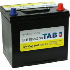 Аккумулятор TAB Asia Stop&Go 60 Ач, 600 А (55D23L) EFB, Start-Stop, обратная полярность, нижний борт ²