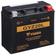 Аккумулятор GS YUASA  12В 20 Ач, 250 А (GYZ20L), обратная полярность ⁶