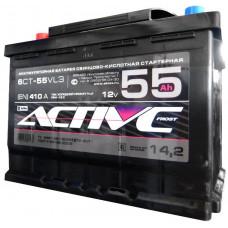 Аккумулятор ACTIVE FROST  55 Ач, 410 А, прямая полярность ²