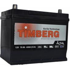 Аккумулятор TIMBERG Asia  70 Ач, 650 А (MF80D26R), прямая полярность, нижний борт, АКЦИЯ ¹