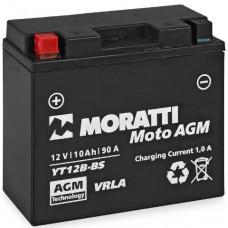 Аккумулятор MORATTI  12В 10 Ач, 90 А (YT12В-4, MP1212B4), прямая полярность ¹