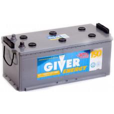 Аккумулятор GIVER ENERGY 190 Ач, 1300 А, российская полярность, узкий, болтовые клеммы ²