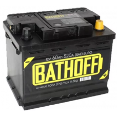 Аккумулятор BATHOFF  60 Ач, 500 А, прямая полярность ¹